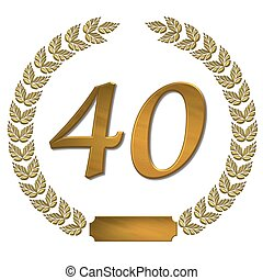 golden laurel wreath 40