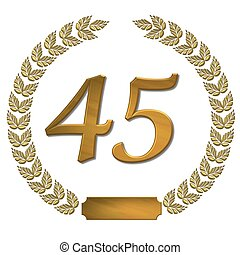 golden laurel wreath 45