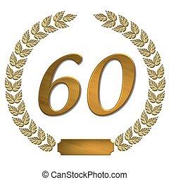 golden laurel wreath 60