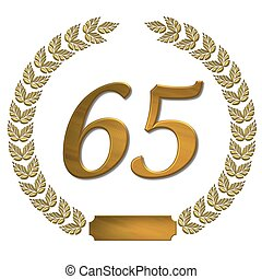 golden laurel wreath 65