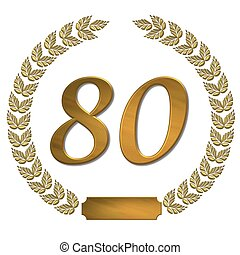 golden laurel wreath 80