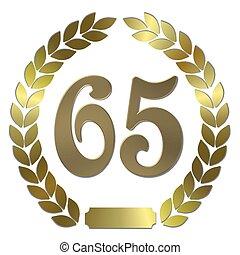shiny golden laurel wreath 65
