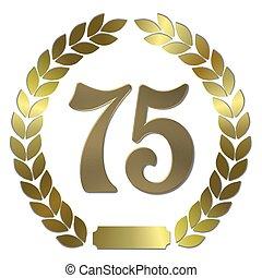 shiny golden laurel wreath 75