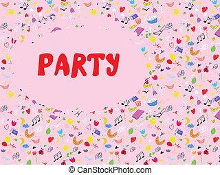 Funny party invitation cute design