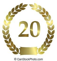 shiny golden laurel wreath 20