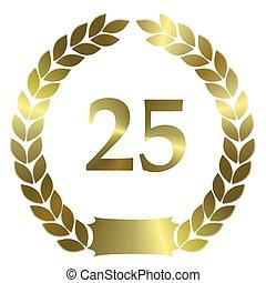 shiny golden laurel wreath 25