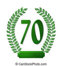 green laurel wreath 70