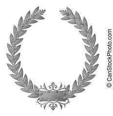 silver laurel wreath