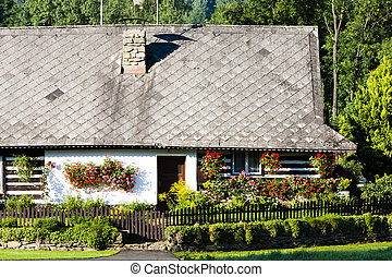 cottage with plants, Czech Republic