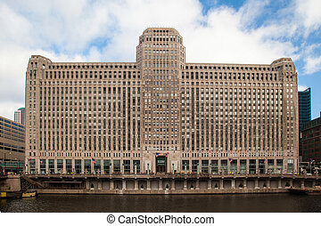Merchandise Mart - The Merchandise Mart on a clear winter's...