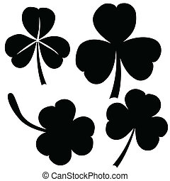 collection of clover, St Patricks day vector - collection of...