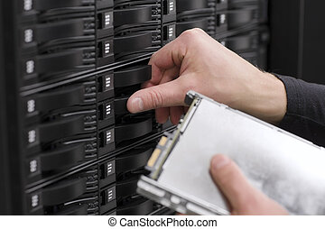 IT Consultant Replace SAN Hard Drive - It engineer...