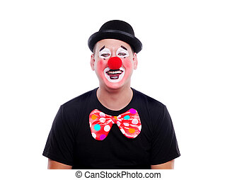 Happy clown on a white background