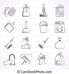 Cleaning and hygiene icons
