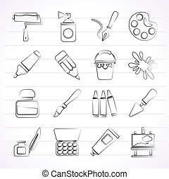 Painting and art object icons