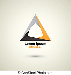 triángulo, logotipo, plantilla