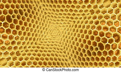 Honeycomb - 3d animation of honeycombs inside of beehives
