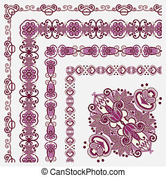 floral vintage frame designAll components are easy editable