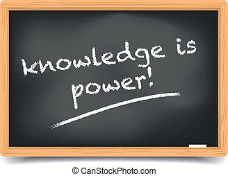 Blackboard knowledge - detailed illustration of a blackboard...