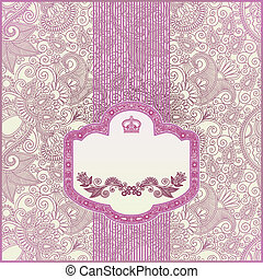 Ornamental floral pattern with place for your greetings