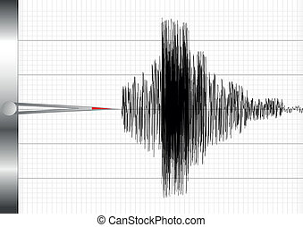 seismograph - detailed illustration of a seismograph, eps10...