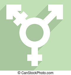 FLAT_transgender_symbol_02 - minimalistic illustration of a...