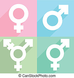 transgender symbol - minimalistic illustration of a...