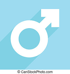 male symbol - minimalistic illustration of a male symbol,...