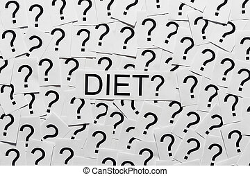 Starting on a Diet - Start dieting Many question marks on...