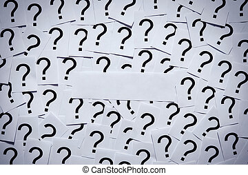 Question Marks without Theme - Put your own question on the...