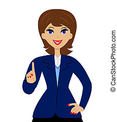 woman in business suit - beautiful slender woman in business...