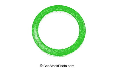 Lading - Green ring over white