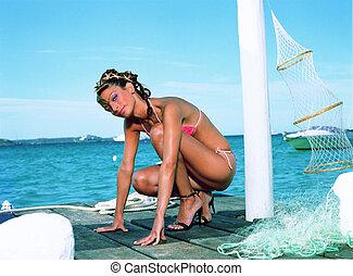 Modles de bikini chaud, de belles filles - culottes de