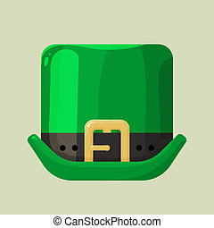 Green leprechaun hat with a buckle