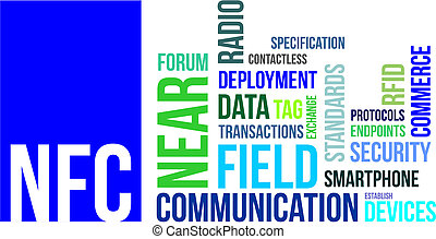 word cloud - nfc - A word cloud of near field communication...