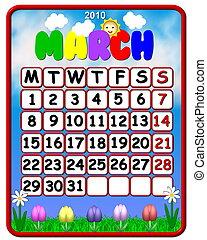 2010 calendar march