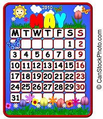 2010 calendar may