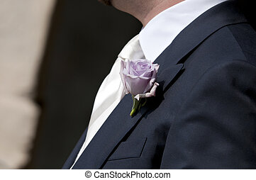 buttonhole flowers - buttonhole flower on bridegroom