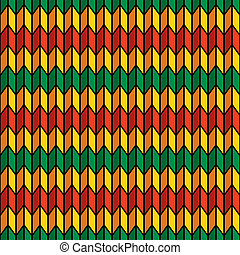 Seamless pattern in rasta colors - Background seamless...