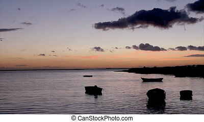Sunset Ria Formosa Olhao, Algarve - Timelapse in Olho da...
