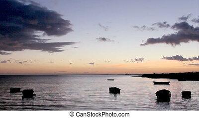 Sunset Ria Formosa Olhao, Algarve - Timelapse in Olh?o da...