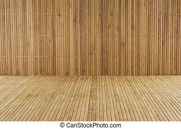 bamboo background - brown bamboo texture wooden background