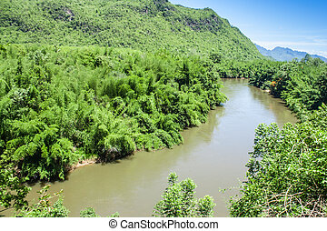 Moutain&River kwai-noi.thai people call amazon thailand.
