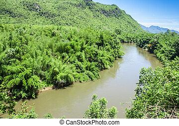 Moutain&River kwai-noi.thai people call amazon thailand.