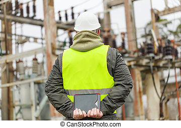 Electrical Engineer in electrical substation