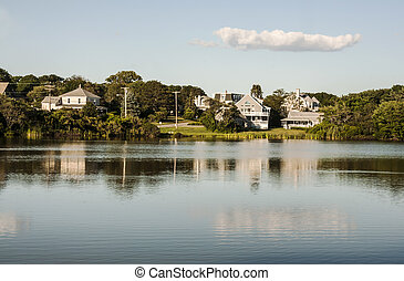 maine landscape - scenery of a landscape in Maine, Usa