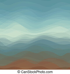 Abstract Vector of Dark Color Wavy Background - Abstract...