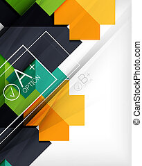 Infographic geometrical shape abstract background For...