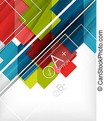 Infographic geometrical shape abstract background. For...