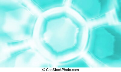 Honeycomb in blue color - 3d animation of blue honeycombs...
